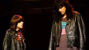 "Johnathan McClain (Johnny Ramone) and Matthew Patrick Davis (Joey Ramone) in ""Four Chords and a Gun."" Photo courtesy of Leonidas Jaramillo"