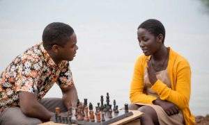 "David Oyelowo and Madina Nalwanga in Disney's ""Queen of Katwe,"" which will enthrall audiences at the El Capitan Theatre in Hollywood for two weeks. Photo courtesy of Disney Enterprises, Inc."