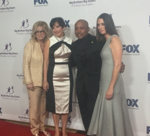 "Board Chair Laura Lizer, Rita Tuzon, Daymond John, and the President of Big Brothers Big Sisters of Greater Los Angeles, Tiffany Siart, on the red carpet of the ""Big Bash"" gala at the Beverly Hilton in Beverly Hills, Calif., on Friday, October 21st."