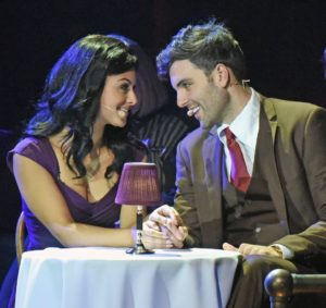 "Pia Toscano (Karen) and Zak Resnick (Henry) in ""Scorsese: American Crime Requiem."" Photo credit: For The Record"