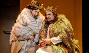 "Ekaterina Semenchuk (Lady Macbeth) and Plácido Domingo (Macbeth) in Giuseppe Verdi's ""Macbeth,"" which ran through Oct. 16th at the Dorothy Chandler Pavilion in Los Angeles. Photo credit: Karen Almond and LA Opera"