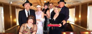 "The cast of Fillmore & Western Railway's ""Night Train to Murder."" Photo credit: P. Maxwell Productions"
