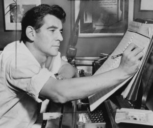 "A portrait of Leonard Bernstein in the mid-1950s around the time ""On the Waterfront"" was released. Photo credit: leonardbernstein.com"