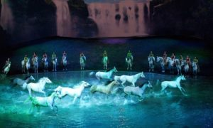 """Cavalia's """"Odysseo,"""" a surreal spectacle beyond words, will be playing under the big white top in Irvine, Calif., through January 8th, 2017. Photo courtesy of Cavalia"""