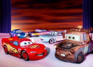 "Many of the characters in Disney and Pixar's ""Cars"" will be featured on the ice. Photo credit: Disney"
