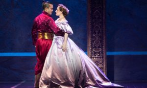 """Starring (R-L) Jose Llana as King Siam and Laura Michelle Kelly as Anna, the 2016-17 version of Rodgers & Hammerstein's """"The King and I"""" is a can't-miss musical directed by Bartlett Sher. It can be seen at the Hollywood Pantages Theatre until January 21st. Photo credit: Matthew Murphy"""