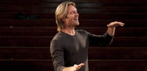 Eric Whitacre's conducting style is very focused, but contented. He allows himself to enjoy the music as its happening. Photo credit: Eric Whitacre and classicfm.com