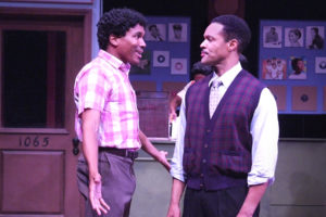 """Eric B. Anthony (Percy Ivy) and Stu James (John Dolphin) in """"Recorded in Hollywood."""" Photo credit: Ed Krieger"""