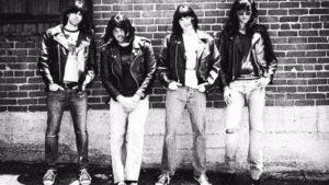 Johnathan McClain (Johnny), James Pumphrey (Marky), Michael Daniel Cassady (Dee Dee) and Matthew Patrick Davis (Joey) recreate the Ramones' debut album cover. Photo courtesy of Leonidas Jaramillo