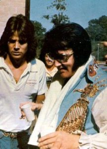 David Stanley and Elvis Presley on tour in 1976