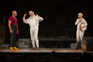 "(L-R) Philip Anthony-Rodriguez, Hal Linden and Amir Talai in The Pasadena Playhouse production of ""The Fantasticks."" Photo Credit: Jim Cox"
