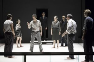 "The entire cast of eight in Arthur Miller's ""A View from the Bridge,"" directed by Ivo Van Hove. Photo credit: Jan Versweyveld"