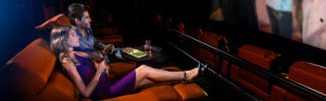 The Premium-Plus seating at iPic Theatres is ideal for friends and couples who can share food and drinks. Photo credit: iPic Theatres
