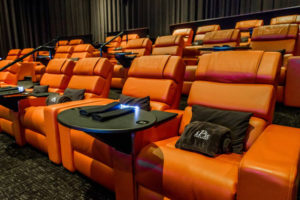 A snapshot of Premium-Plus seating, including the pillow and blanket amenities, at iPic Theatres. Photo credit: iPic Theatres