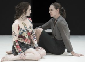 "(L-R) Catherine Combs and Andrus Nichols in Arthur Miller's ""A View from the Bridge,"" directed by Ivo Van Hove. Photo credit: Jan Versweyveld"