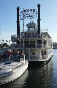 The Grand Romance Riverboat is the site of The Dinner Detective's Long Beach show.