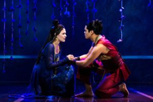 """(R-L) Manna Nichols as Tuptim and Kavin Panmeechao as Lun Tha in Rodgers & Hammerstein's """"The King and I."""" Photo credit: Matthew Murphy"""