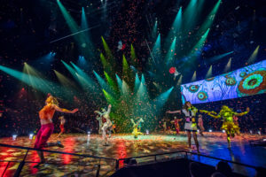 """Cirque du Soleil's """"The Beatles LOVE"""" at The Mirage Resort and Casino in Las Vegas, NV."""