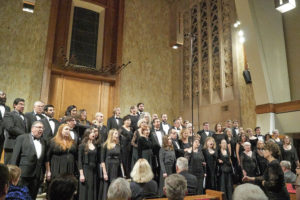 A photo of the Verdi Chorus during a performance
