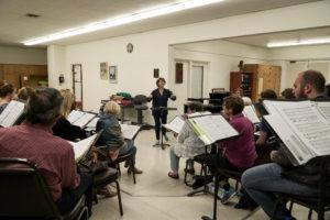 A photo of the Verdi Chorus during rehearsal