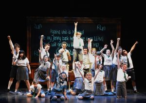 """The ensemble in 5-Star Theatricals' """"Matilda the Musical"""" at the Kavli Theatre in Thousand Oaks, CA. Photo credit: Ed Krieger"""